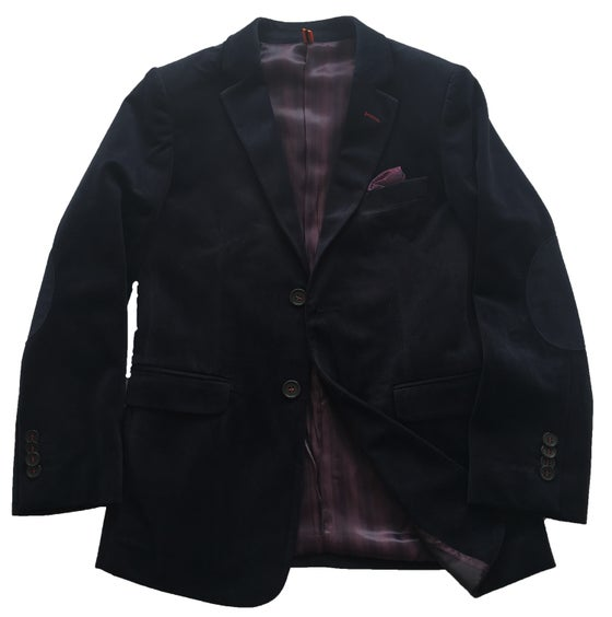 Image of Navy Velvet Jacket
