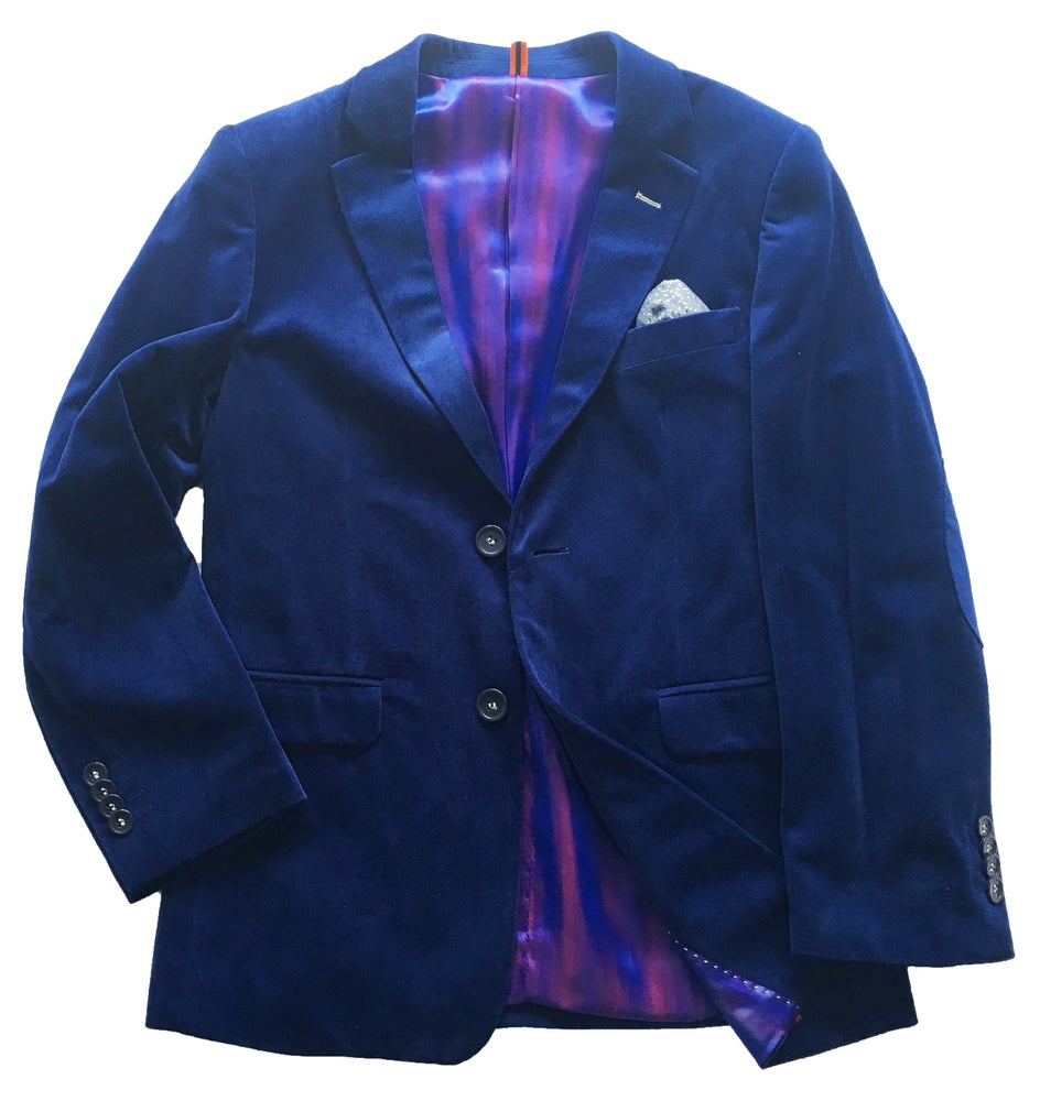 Image of Tonic Blue Velvet Jacket