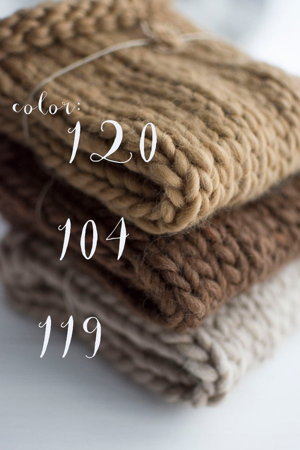 Image of Wool mini blanket / 21 colors available