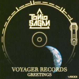 "Image of Tonio Sagan ""Voyager Records: Greetings"" Gold Colored 7"" Single"