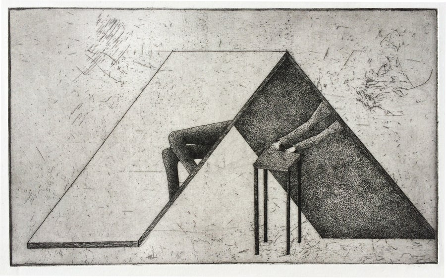 Image of Artwork and Stool