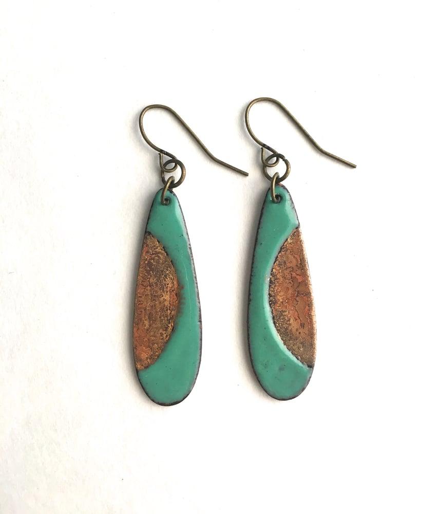 Image of Enamel Earrings