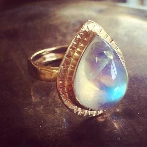 Image of Lady of the Woods Moonstone Ring
