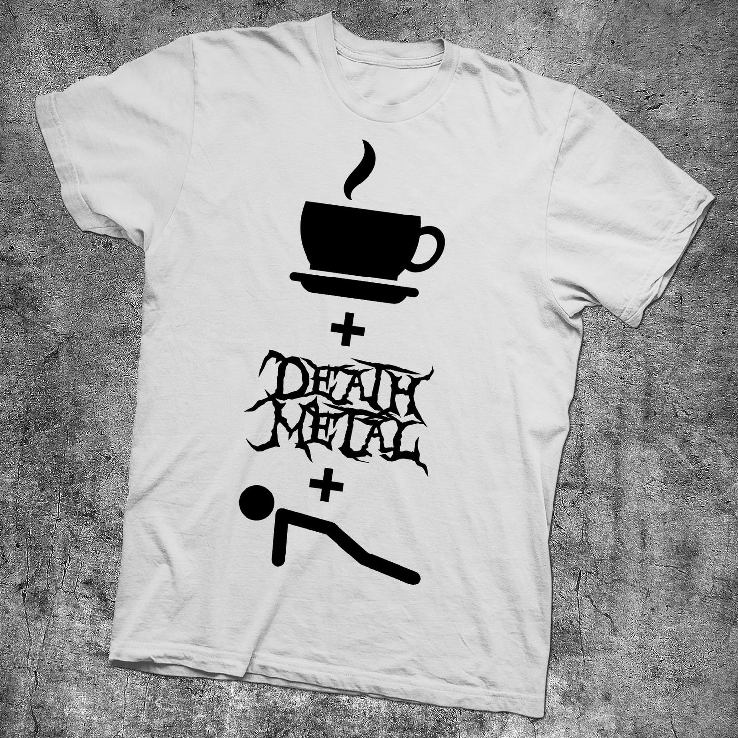 Image of COFFEE DEATH METAL AND PUSH UPS - NEW WHITE