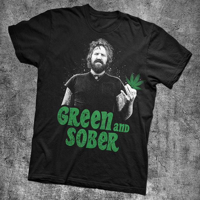 Image of GREEN & SOBER - BRENT HINDS TRIBUTE SHIRT - BLACK