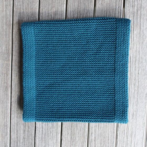 Image of Snood 100% Laine Vert canard ou Bleu marine
