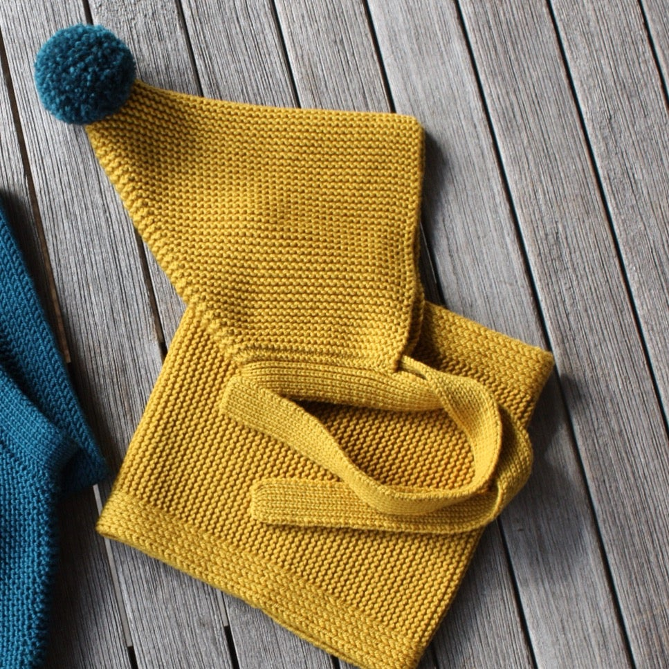 Image of Snood 100% Laine                           Jaune moutarde