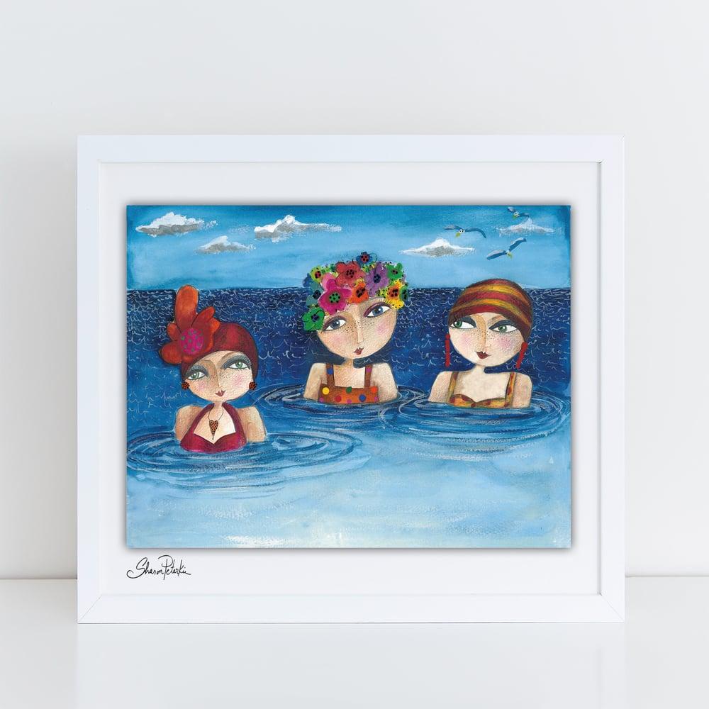 Image of Bathing Trio PRINT