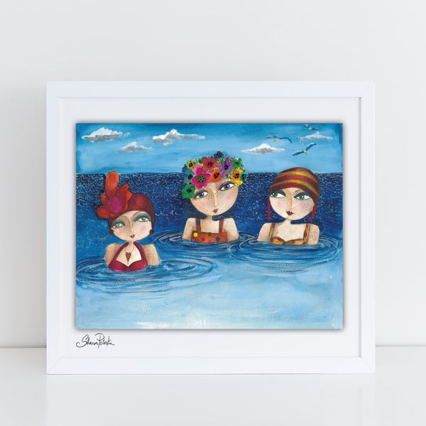 Image of Bathing Trio PRINT