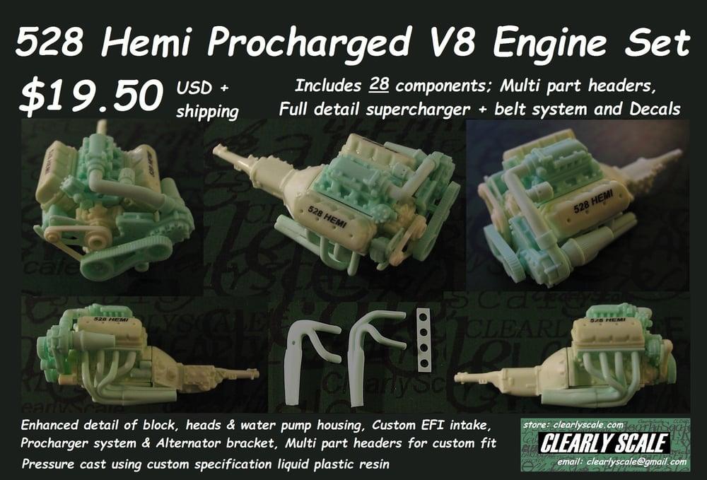 Image of 528 Hemi Procharged V8 Engine + Transmission Set