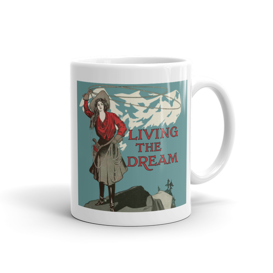 Image of Living The Dream Lasso Girl Ceramic Mug