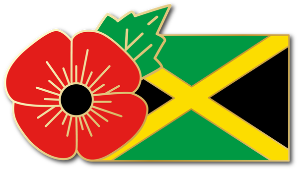 Image of JAMAICA FMN Poppy/Flag Combo Medal (28mm x 15.5mm)