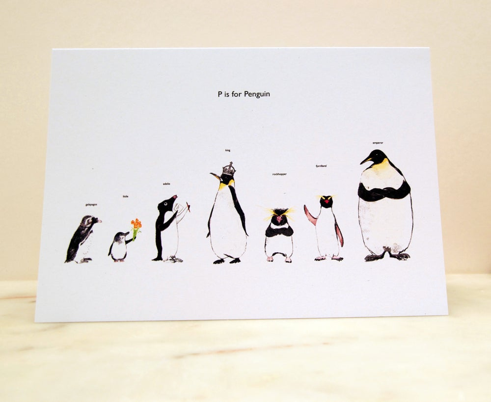 Image of P is for Penguin Card