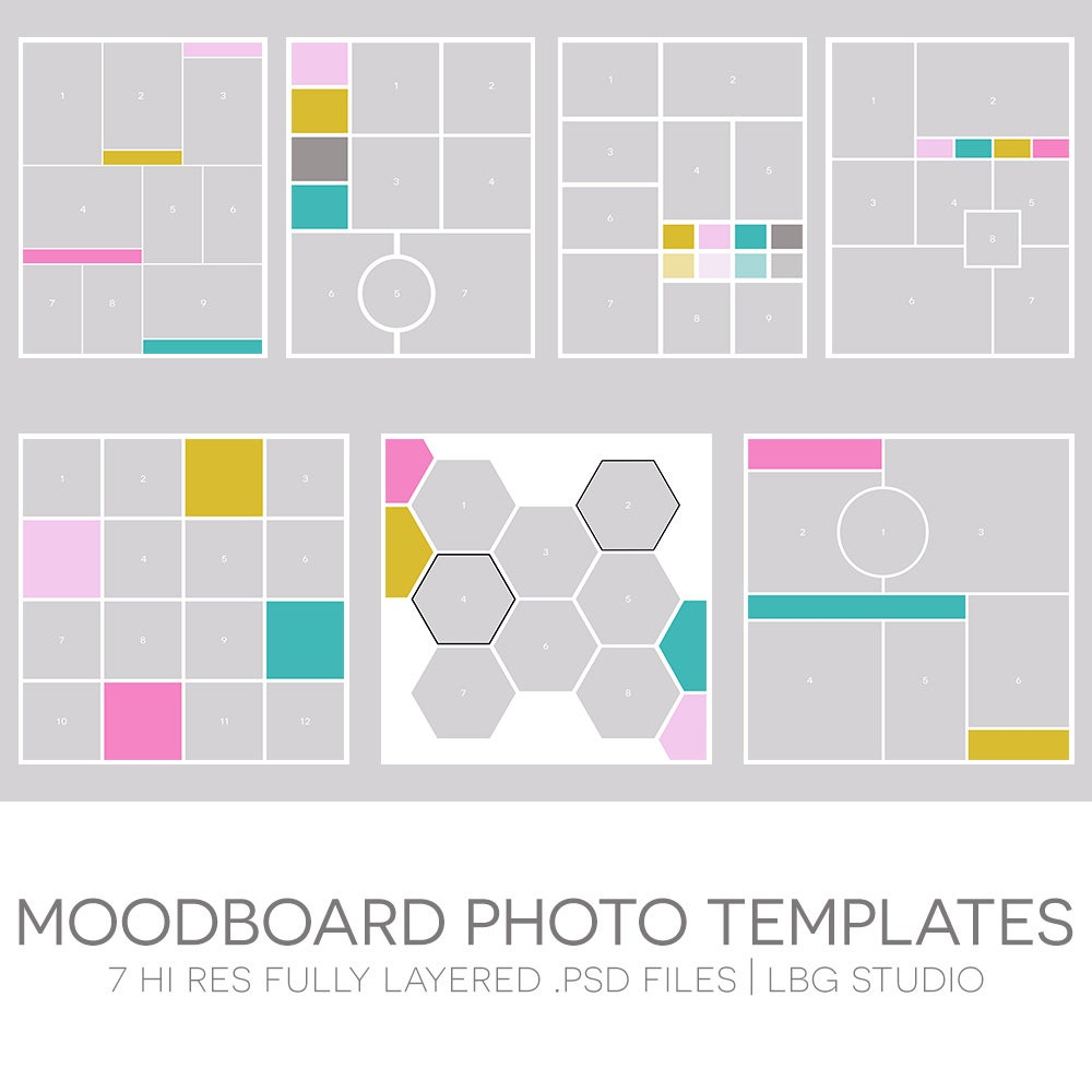 moodboard photo templates lbg studio