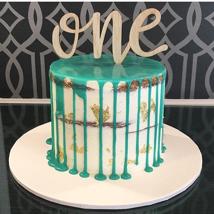 Image of One Script Cake Topper