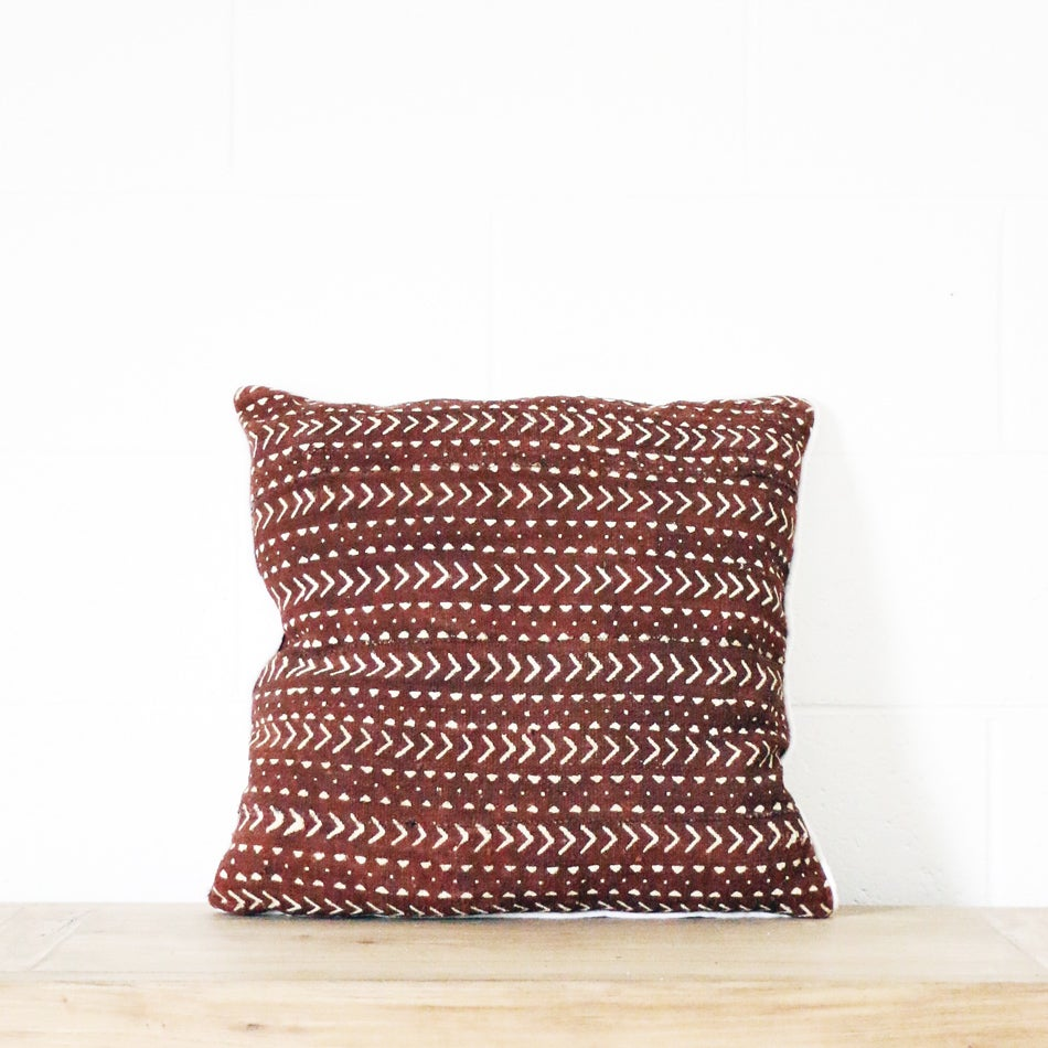 Image of Mudcloth Cushion Arrow Cocoa