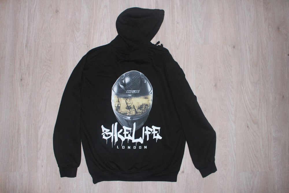 Image of Bikelife London 3D Helmet Effect Hoody