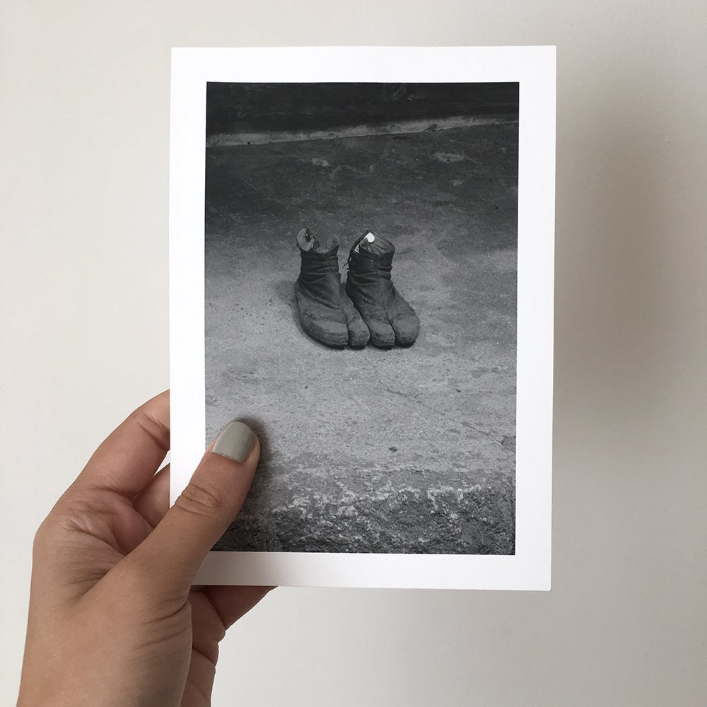 Image of Tabi boots - hand printed gelatin silver photograph