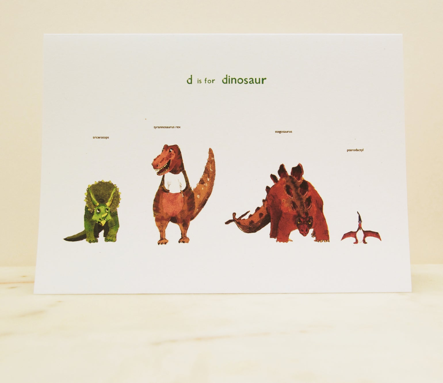 Image of D is for Dinosaur Card