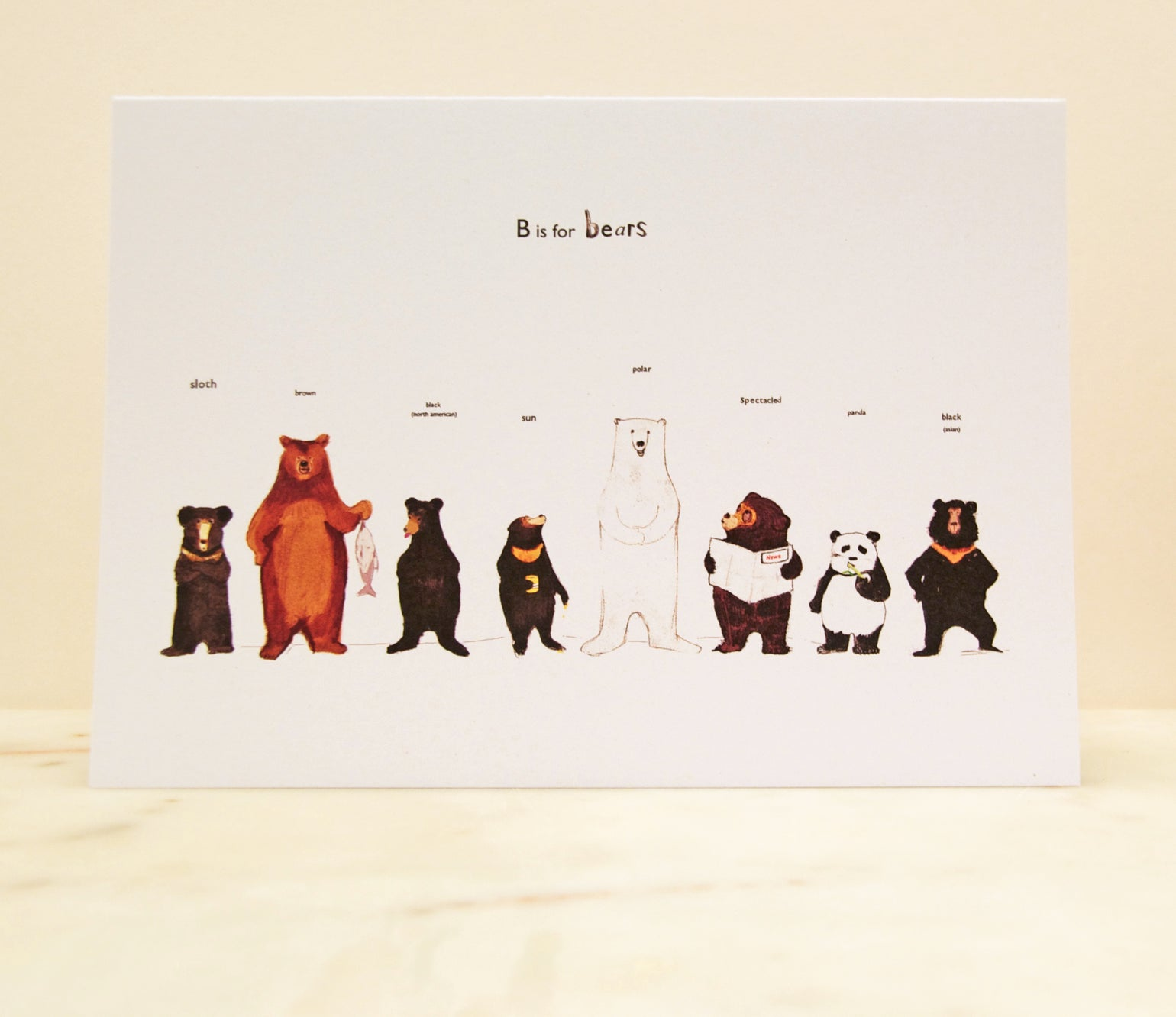 Image of B is for Bears Card