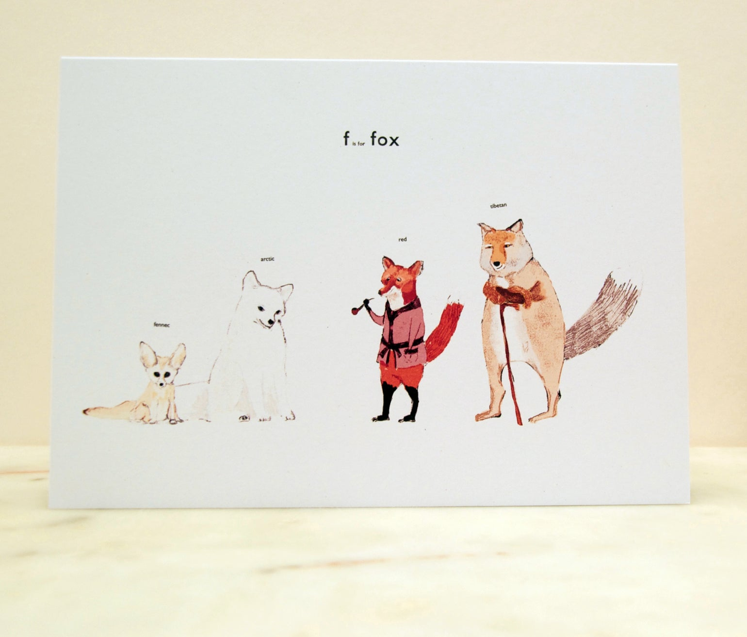 Image of F is for Fox Card