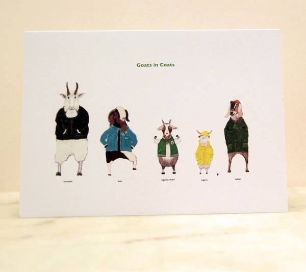 Image of Goats in Coats Card