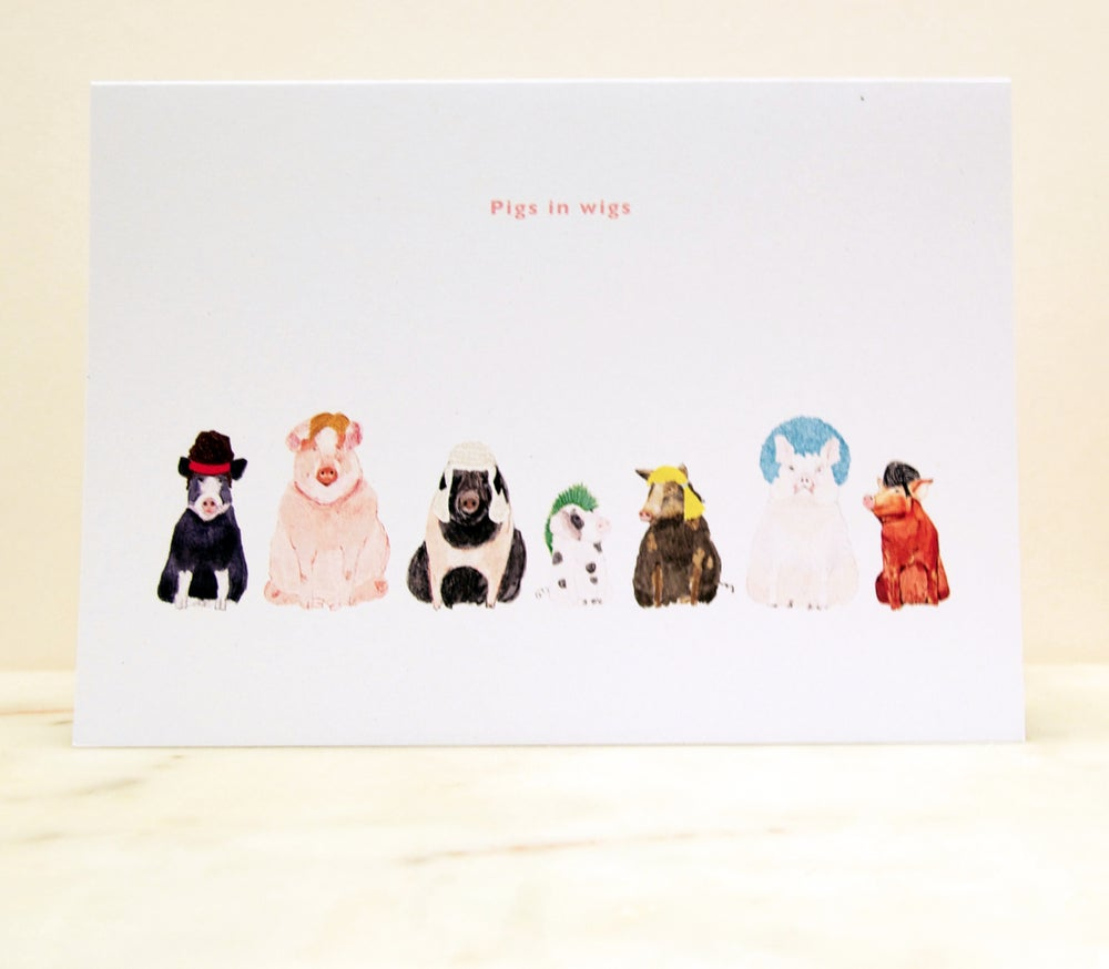 Image of Pigs in Wigs Card