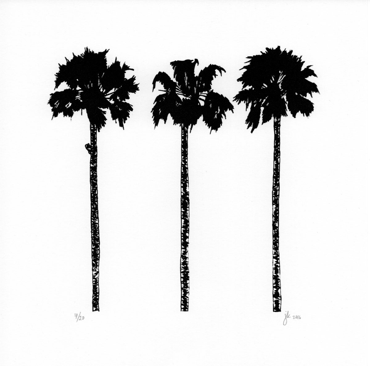 Image of Palm Trees Screen Print