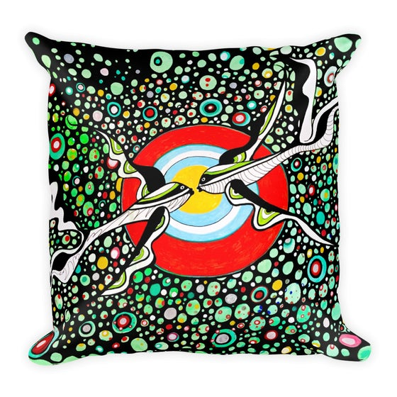 Image of Kissing Fish Throw pillow