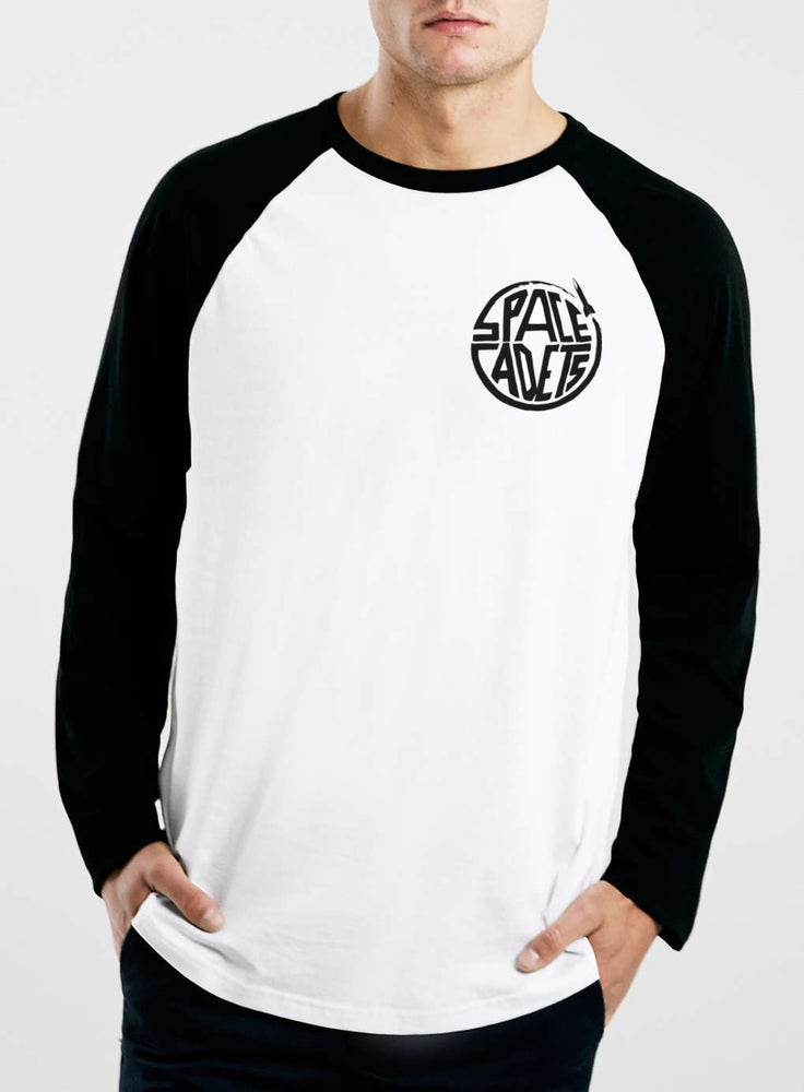 Image of Long Sleeve Blue White Small Logo