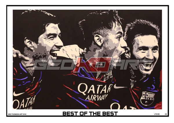 Image of MESSI NEYMAR SUAREZ