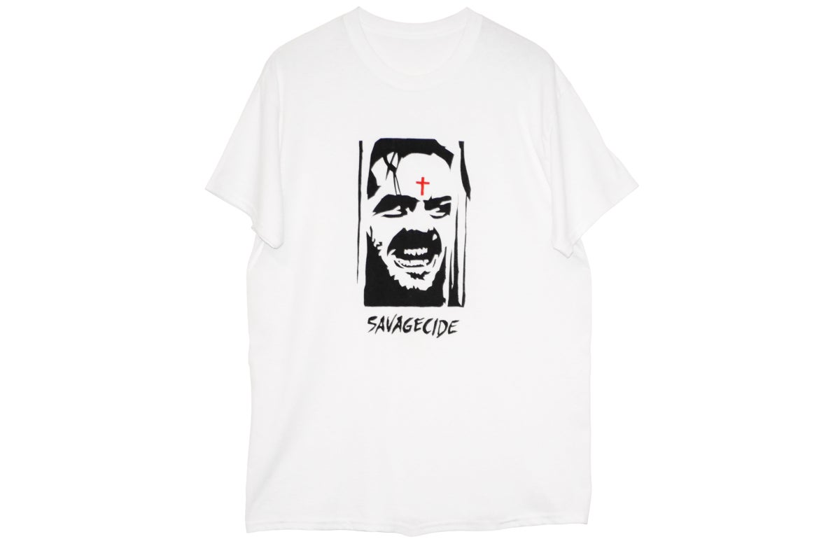 "Image of ""Savagecide"" T-Shirt (White)"