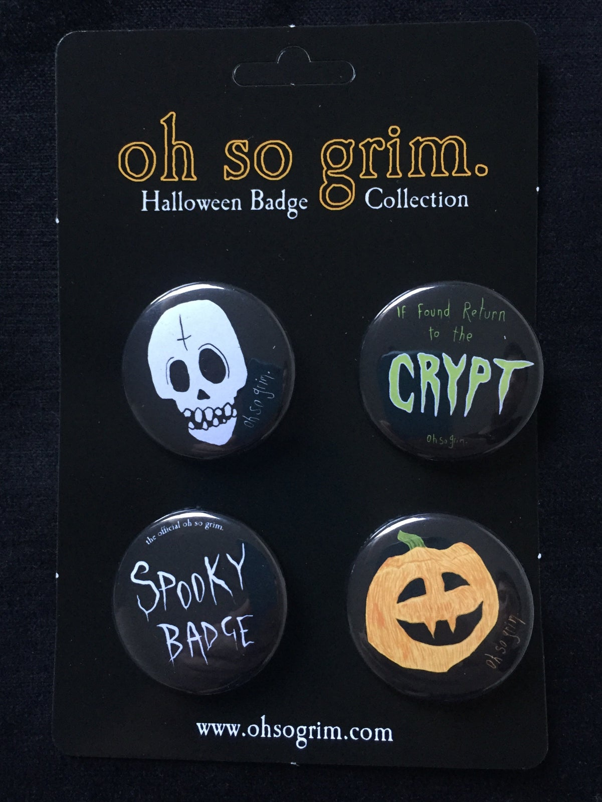 Image of Halloween badge collection