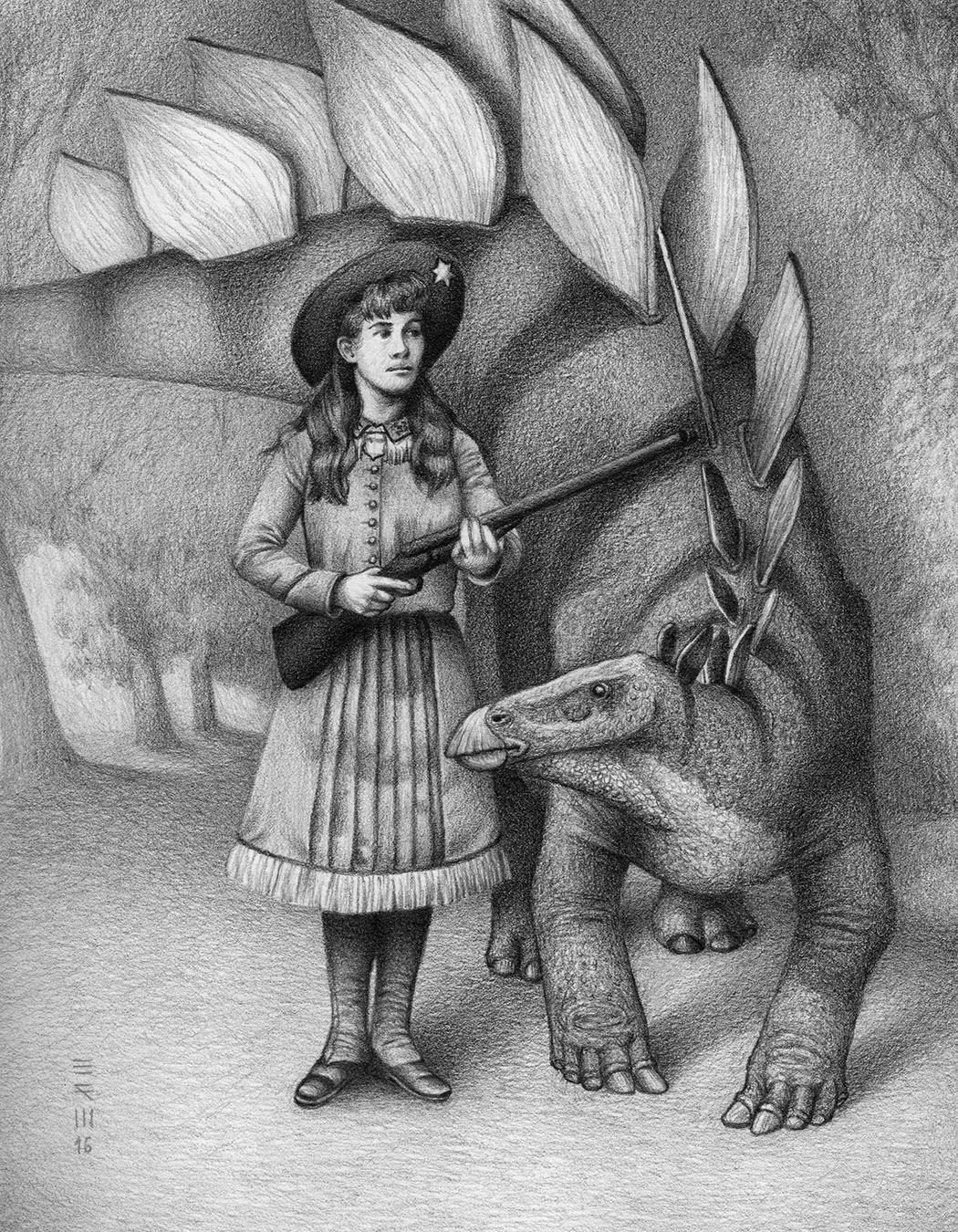 Image of Annie Oakley & Stegosaurus