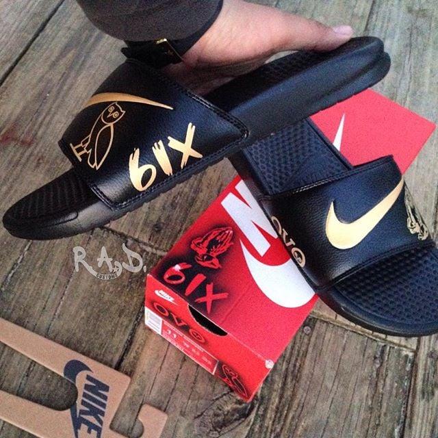 sneakers for cheap 7fa55 a7c23 OvO Custom Nike slippers