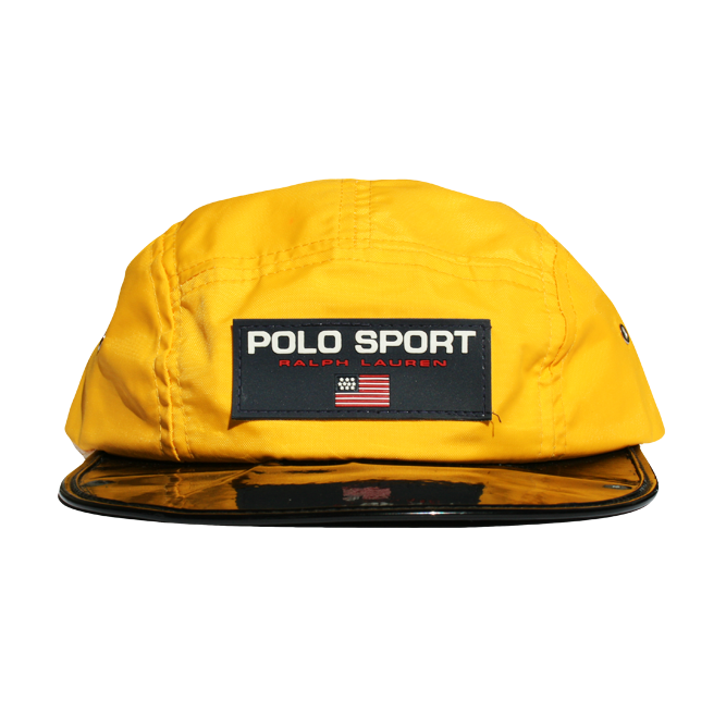 Image of Polo Sport Vintage 5 Panel Nylon Hat Vinyl Bill Strapback
