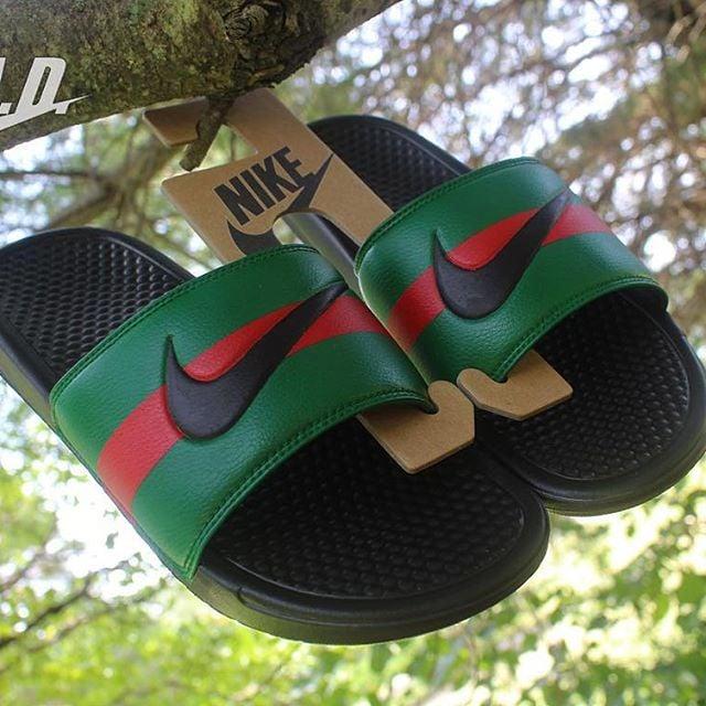 huge selection of bf244 1b6c6 Gucci Custom Nike slippers