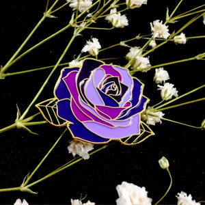 Image of Witchy Purple Rose Enamel Pin