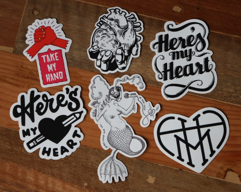 Image of Here's my Heart Sticker Pack