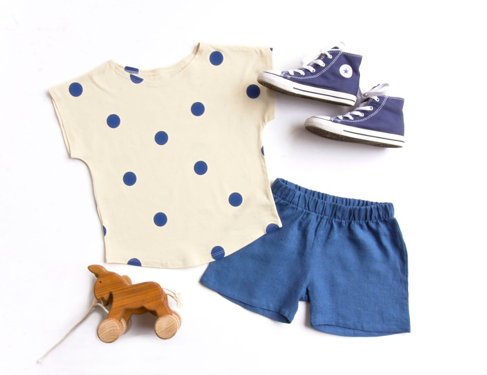 Image of Organic cotton Top blue spots