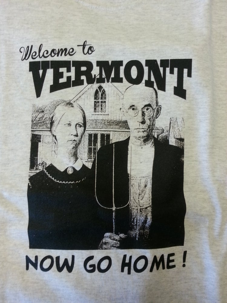 Image of Welcome to Vermont T-Shirt - Vermont 802 T-Shirt - vermont clothing - vermont clothes - 802 clothing
