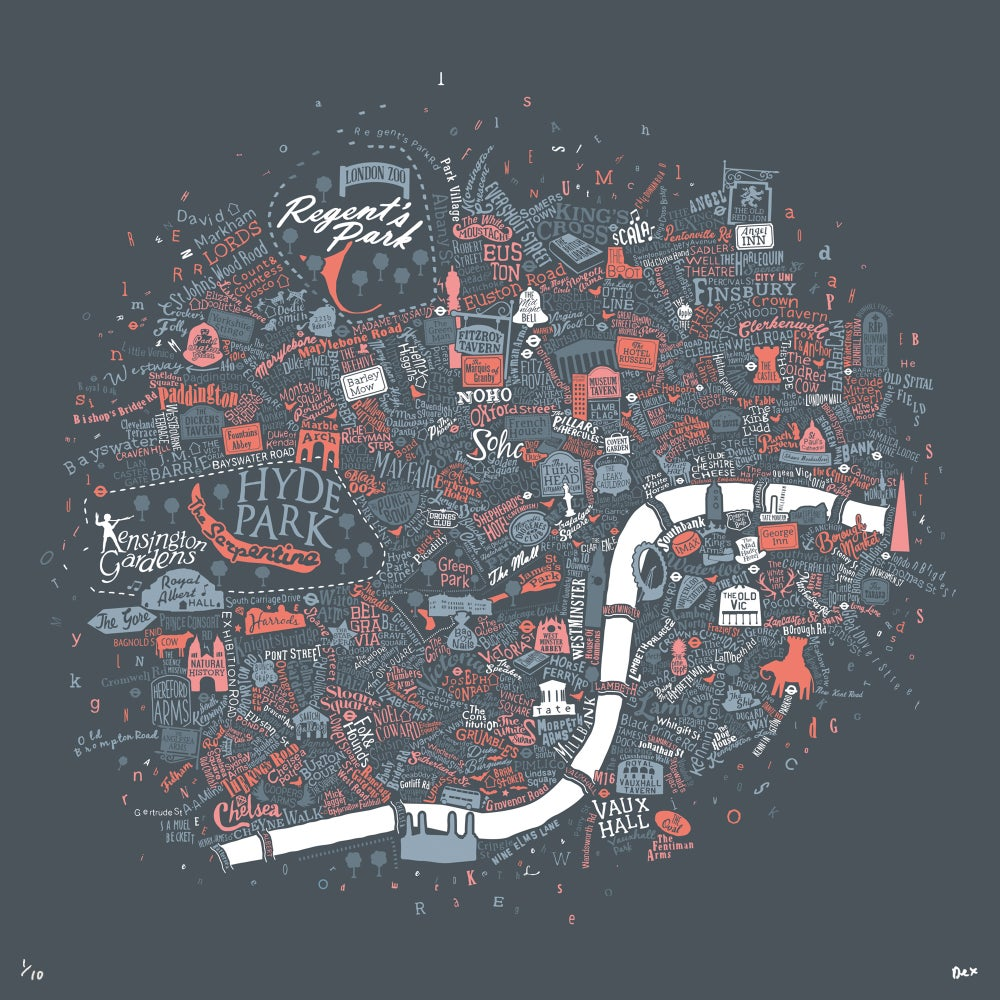 Image of Pubs Of Literary London (Pink & Grey)