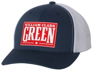 Image of Navy William Clark Green Hat With Red Patch