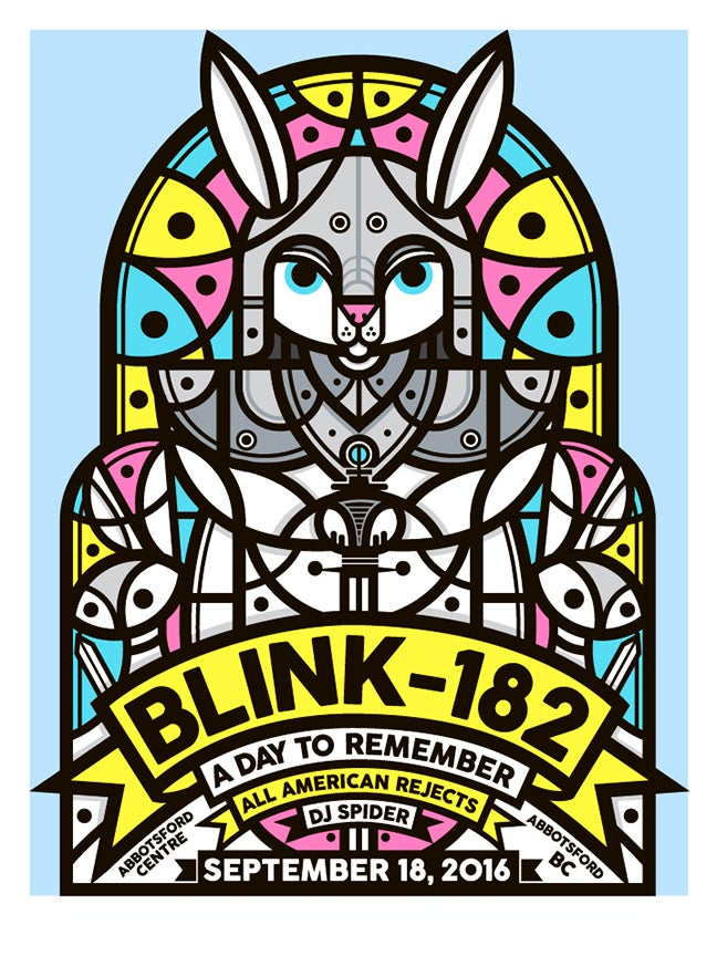 Image of Blink-182 Abbotsford, BC Poster