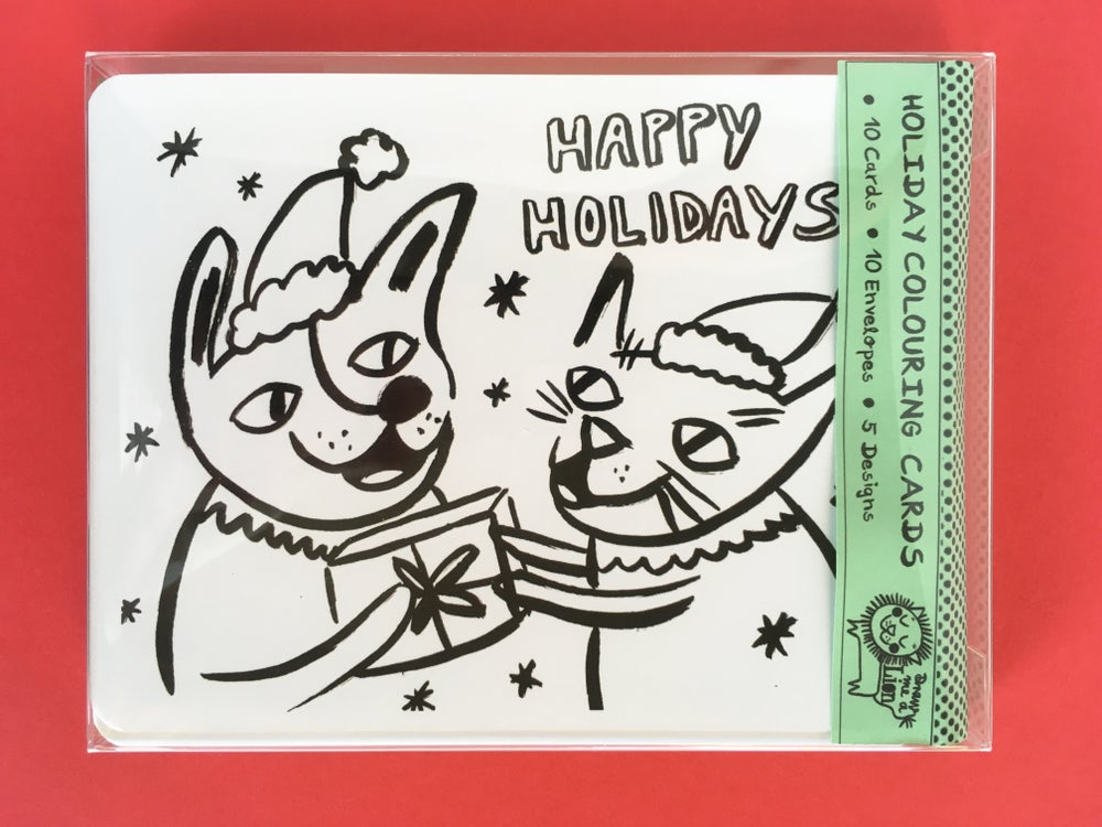 Image of Colouring Card Set - Holidays