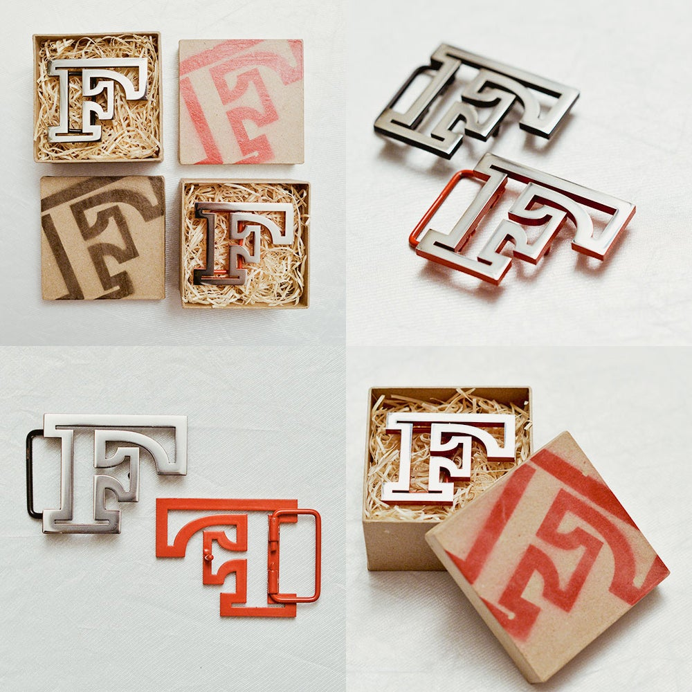 Image of The F belt buckle