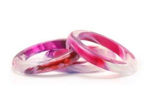 Image of Orchid Swirl Slender Bangle