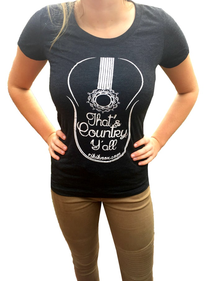"Image of Ladies ""That's Country Y'all"" Fitted Tee"
