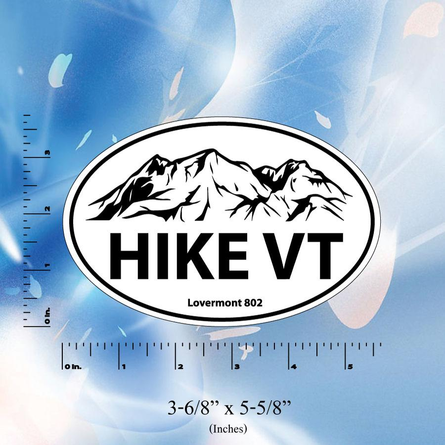 Image of hike vt euro sticker vermont decal