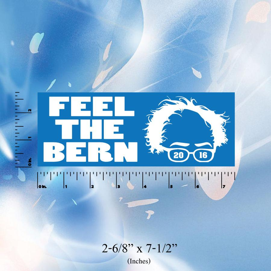 Image of Feel the Bern - Bernie Sanders Stickers - Digital printed bumper decal - Bernie 2016